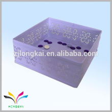 Hangzhou manufacture metal mesh japanese foldable document storage box