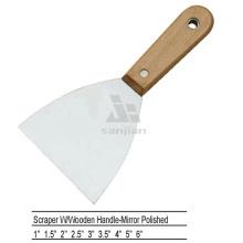 Sjsl38 Kohlenstoffstahl poliert Holz Griff Kitt Messer