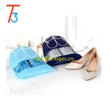 Sacs de rangement pour organisateur de chaussures de voyage portables avec chaîne de tirage, fenêtre d'affichage, deux tailles et couleurs, mignon et durable