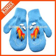 Invierno personalizado de acrílico de punto guantes de doble capa
