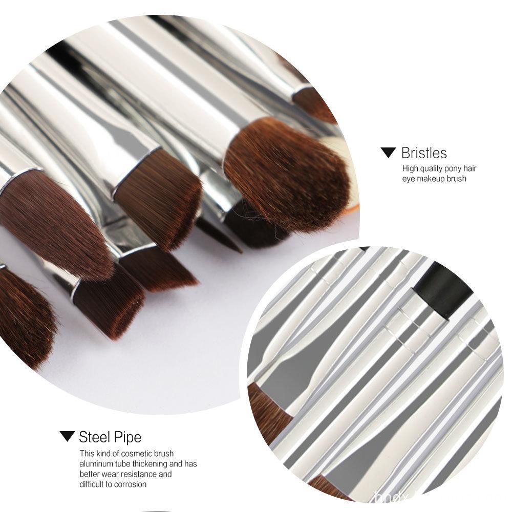 20 PCS Horse Hair Wooden Handle Makeup Brushes sets 3