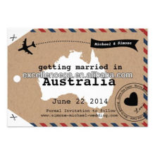 High quality brown paper luggage tags