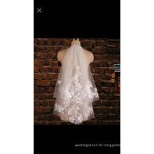 2016 Yiai Elegant Flowers Appliques Wedding Veil Customed Bridal Veil