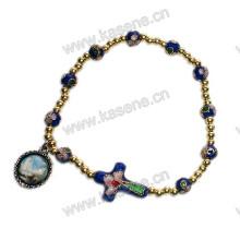 High Quality Fashion Cloisonne Bracelet Wit Cloisonne Cross, Rosary Bracelet