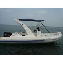 Vende barco inflável de fibra de vidro branco bem perfeito com CE
