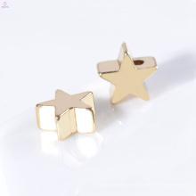 Personalizado Por Atacado Chapeamento De Ouro 7mm Jóias Acessórios Colar Charme Estrela