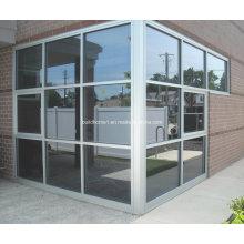 Natur eloxiert Silber Aluminium Rahmen Glas Vorhangfassade