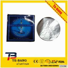 2015 Factory Price Top Grade Disposable Round /Square pre-cut sheet hookah aluminum foil for shisha