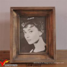 Rectangle Vintage Brown Table Stand Cadre photo en bois