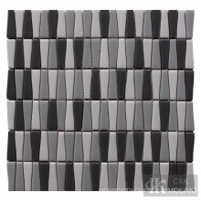Mixed glass tiles for wall decor