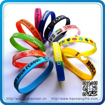Günstige Giveaways Bulk Silikon-Armbänder (HN-SB-007)