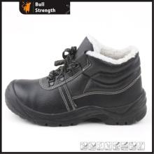 Cheville en cuir véritable hiver sécurité chaussures à embout d'acier (SN5315)