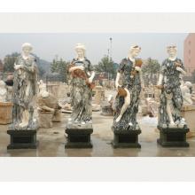 Kunstniveau klassische Lebensgröße die vier Jahreszeiten Marmorstatue