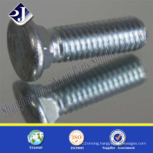 Countersunk Head Carriage Bolt with Blue Surface