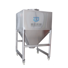 Square storage tank stainless steel Containers conical tank  rectangular mobile tank 1000L