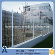 Pvc práctico de la alta calidad del diseño de la venta caliente nuevo revestido de la cerca del jardín del triángulo de la cerca del jardín