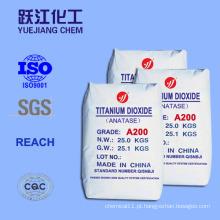 98% Highpurity dióxido de titânio para cerâmica e esmalte com SGS (A100)