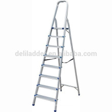 Escalera de escalón de aluminio para el hogar / 8 escalones que suben la escalera doméstica