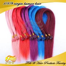 2014 meistverkaufte reine Haarwebart mit farbigen Tipps