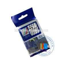 Cassette d'étiquettes laminée pour imprimante, 12 mm, blanc sur rouge, tze-435