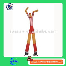 inflatable air sky dancer men red and yellow for sale