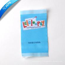 Étiquette colorée faite sur commande de nom de logo de marque de polyster 100 / étiquette principale / étiquette de cou