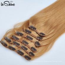 Cutícula de calidad superior de la extensión del pelo humano del clip alineado Superventas