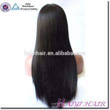Qingdao Haiyi peluca virginal del pelo alineado pelo sedoso peluca recta llena del cordón para las mujeres negras
