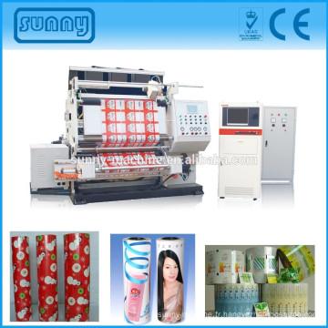 Complètement automatique qualité vérifiant une machine tissu inspection avec caméra pour toutes sortes de film imprimé