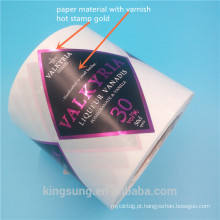 Papel, tela, etiqueta impressa cor da etiqueta de Vinly material com laminação