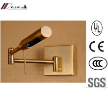 Antique Brass Bedside 3W LED Wall Lamp with Swing Arm