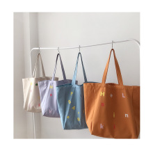 Hot Sale Private Custom Large Capacity Eco Friendly Shopping Cotton Canvas Tote Bag with Printed logo