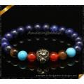 Модные Mix Каменные Бусины Браслеты с Lion Charms (CB0102)