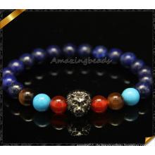 Fashion Mix Stein Perlen Armbänder mit Lion Charms (CB0102)