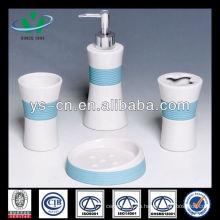 Cepillo de dientes de cerámica azul para el uso casero del hotel
