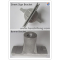 Flat Blade Street Name Sign Bracket by Die Casting Processing