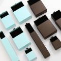 Présentez les boîtes d'affichage de stockage pour les bijoux de colliers