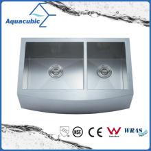 Évier de cuisine en acier inoxydable en acier inoxydable à double bol (ACS3321A2Q)