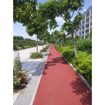 Red permeable concrete floor system