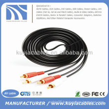 10ft 2RCA Male to 2RCA Male Dual Stereo AV Cable Audio Video Cable Cord 3m