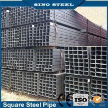 Precio de fábrica de tubo cuadrado recubierto de zinc / Q195-Q345 Tubo de acero rectangular y cuadrado negro