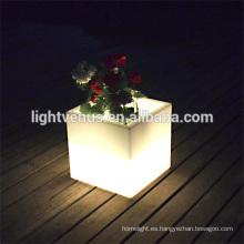 comercial jardineras macetas al aire libre led luminosa flor macetas de plástico