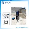 Hydro empujando la bolsa para extracción de piedra