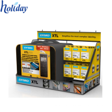 Usine directe Production belle conception 4C impression recyclable carton mobile téléphone chargeur compteur haut présentoir