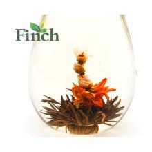 Neue Ankunfts-Gesundheits-Nutzen-schwarzer Tee basierte blühende Blumen-Tee-Ball, der von der rosa Rose hergestellt wurde Einzelne Al-Folie Vakuumbeutel-Paket
