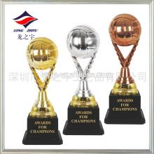 Красочный трофей футбол плакировкой золотой трофей