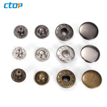 Wholesale high quality factory price fashion metal button for clothes snap button custom buttons