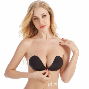 Backless Stick Gel Silicone Push Up Bra invisível
