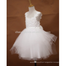 Vestido de noiva Ivory Tull Florista de alta qualidade 2016 Puffy Girl Dress For Kids