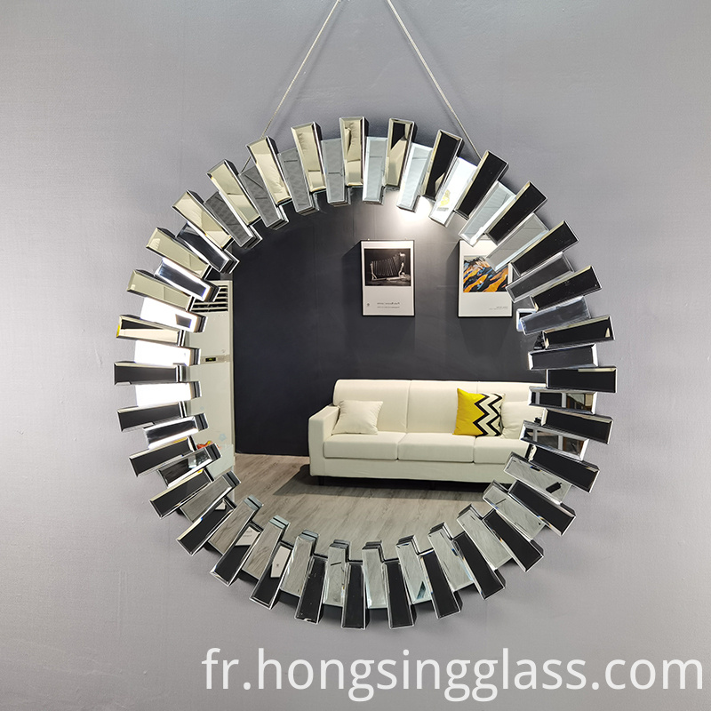 3d effect round shape clear mirror